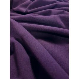 Krepinis trikotažas baklažano spalvos