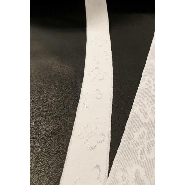 Guma balta 25mm su raštu DRUGELIAI