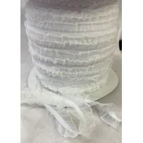 Guma dekoratyvinė balta su bantuku