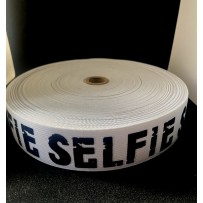 Guma balta 40mm su raštu SELFIE
