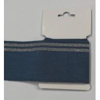 RIB juosta 7cm pastelinė mėlyna/sidabrinė 155cm
