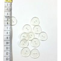 Sagos vidutinės, 2 skylių, permatomos, plokščios 20mm, 10vnt