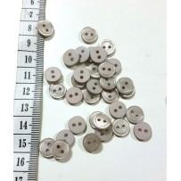 Sagos mažos, 2 skylių, pilkos spalvos 10mm, 20vnt