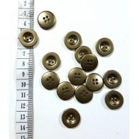 Sagos vidutinės, 4 skylių, metalo imitacijos spalvos 18mm, 10vnt