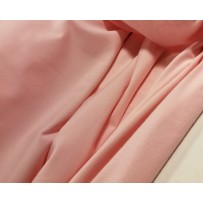 Kilpinis trikotažas su pūkeliu rožinis