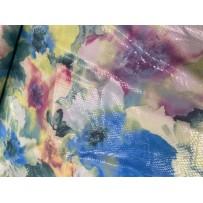 Džersio poliesterio trikotažas su gyvatės odos imitacija gėlėtas