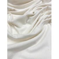 Džersio lino medvilnės trikotažas ecru spalvos