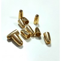 Virvučių galiukai metaliniai auksiniai 10vnt