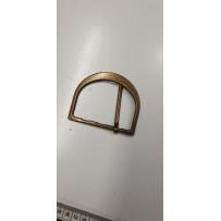 Sagtis dekoratyvinė metalinė žalvario spalvos pusapvali