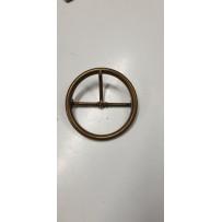 Sagtis dekoratyvinė metalinė žalvario spalvos apvali 6cm