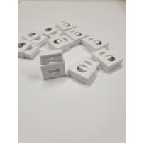 Ribotuvai  kvadratiniai balti 10vnt
