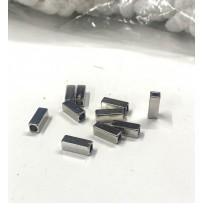 Virvučių galiukai metaliniai sidabriniai 10vnt