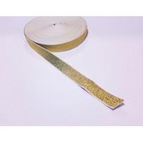 Guma balta su auksiniais siūlais 20mm