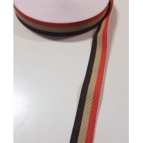 Juostelė austa juoda ruda raudona 23mm