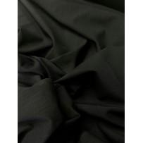 Lino-viskozės audinys juodas su elastanu