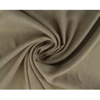 Linas su viskoze audinys pastelinės smėlio spalvos