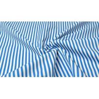 Medvilnė (poplinas) mėlyna/balta  dryžiais