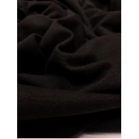 Megztas trikotažas su vilna juodas