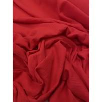 Muslinas- garinta medvilnė raudona