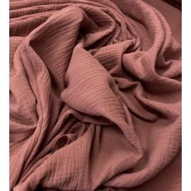 Muslinas- garinta medvilnė tamsi sena rožė