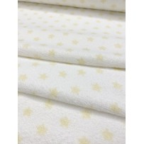 Frotinis trikotažas baltas su geltonomis žvaigždėmis