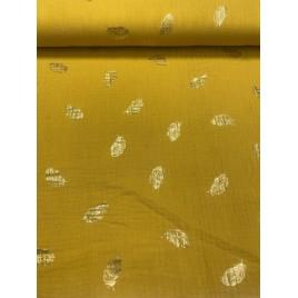 Garinta medvilnė- marlė (double gauze) garstyčių su auksinėmis plunksnomis