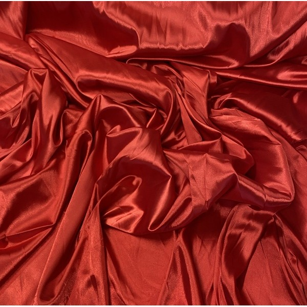 Satinas - dirbtinas šilkas raudonas