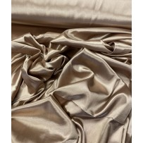 Satinas - dirbtinas šilkas taupe spalvos