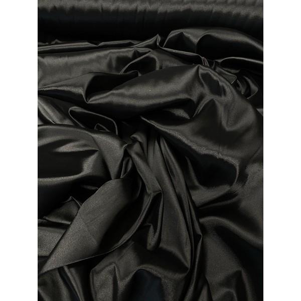 Satinas - dirbtinas šilkas juodas