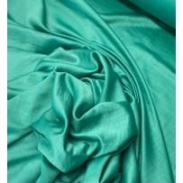 Satinas - dirbtinis šilkas šlapiu efektu žalias