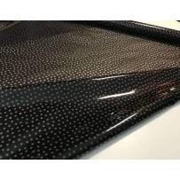 Permatoma, neperšlampanti PVC medžiaga lietpalčiams juoda