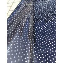 Permatoma, neperšlampanti PVC medžiaga lietpalčiams tamsiai mėlyna