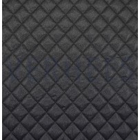 Striukinė dygsniuota medžiaga juodai pilka