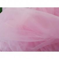 Tiulis minkštas rožinis 300cm pločio