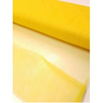 Tiulis  vienspalvis  geltonas kietas 150cm pločio