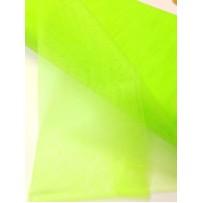 Tiulis  vienspalvis  neoninis salotinis kietas 150cm pločio