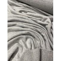 Kilpinis trikotažas trisiūlis pilkas melanžas
