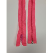 Užtrauktukas atsegamu galu spiralinis rožinis neoninis 60cm