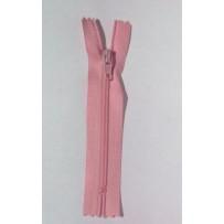 Užtrauktukas neatsegamu galu spiralinis rožinis 10cm