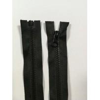 Užtrauktukas atsegamu galu plastikinis juodas 70cm