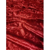 Aksomas glamžytas raudonas